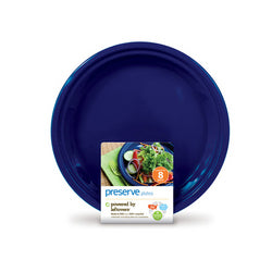 Preserve Large Reusable Plates Midnight Blue (12x8  Count)
