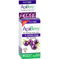 Natrol AcaiBerry Extra Strength  1200 mg  60 Vegetarian Capsules