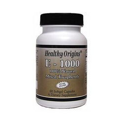 Healthy Origins E-1000 1000 IU (60 Softgels)