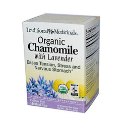 Traditional Medicinals 100% Chamomile Tea wLavender (1x16 Bag)
