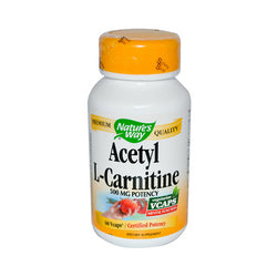 Nature's Way Acetyl L-Carnitine 500 mg (60 Veg Capsules)