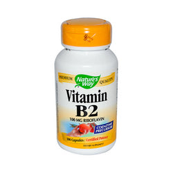 Nature's Way Vitamin B-2 100 mg (100 Capsules)