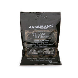 Jakemans Throat and Chest Lozenges Licorice Menthol (Case 12)