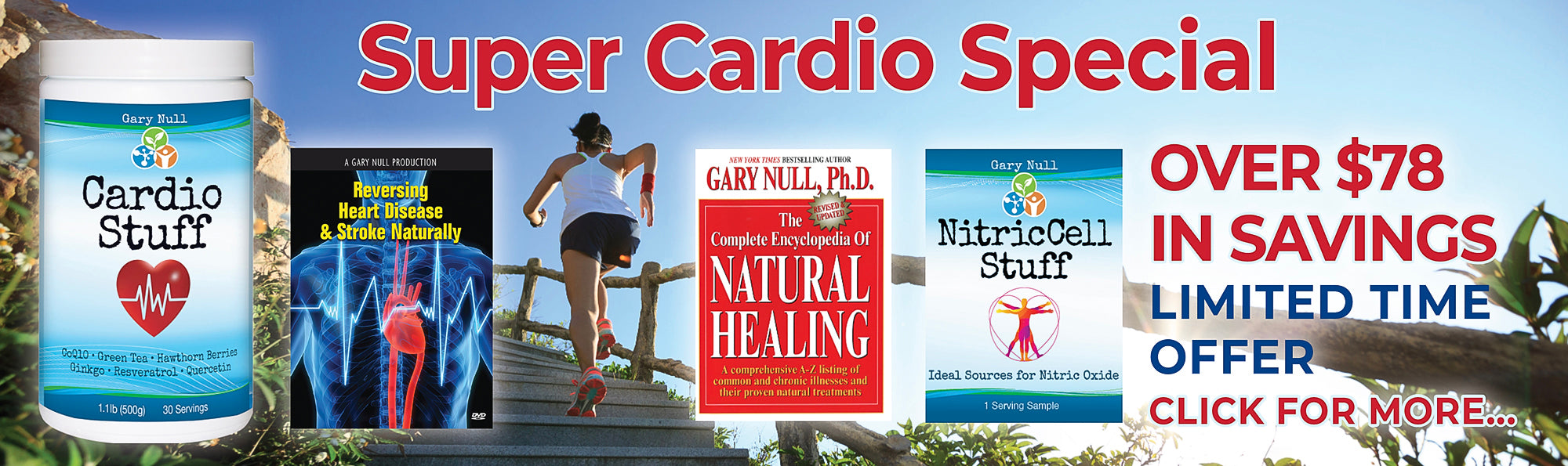 Super Cardio Special - Cardio Stuff with Encyclopedia of Natural Healing Book, DVD amd NitricCell sample