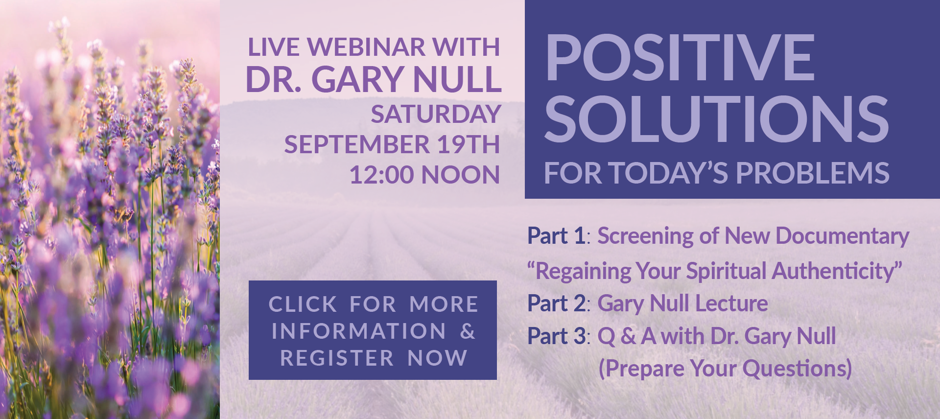 Webinar Positive Solutions for Todays Problems