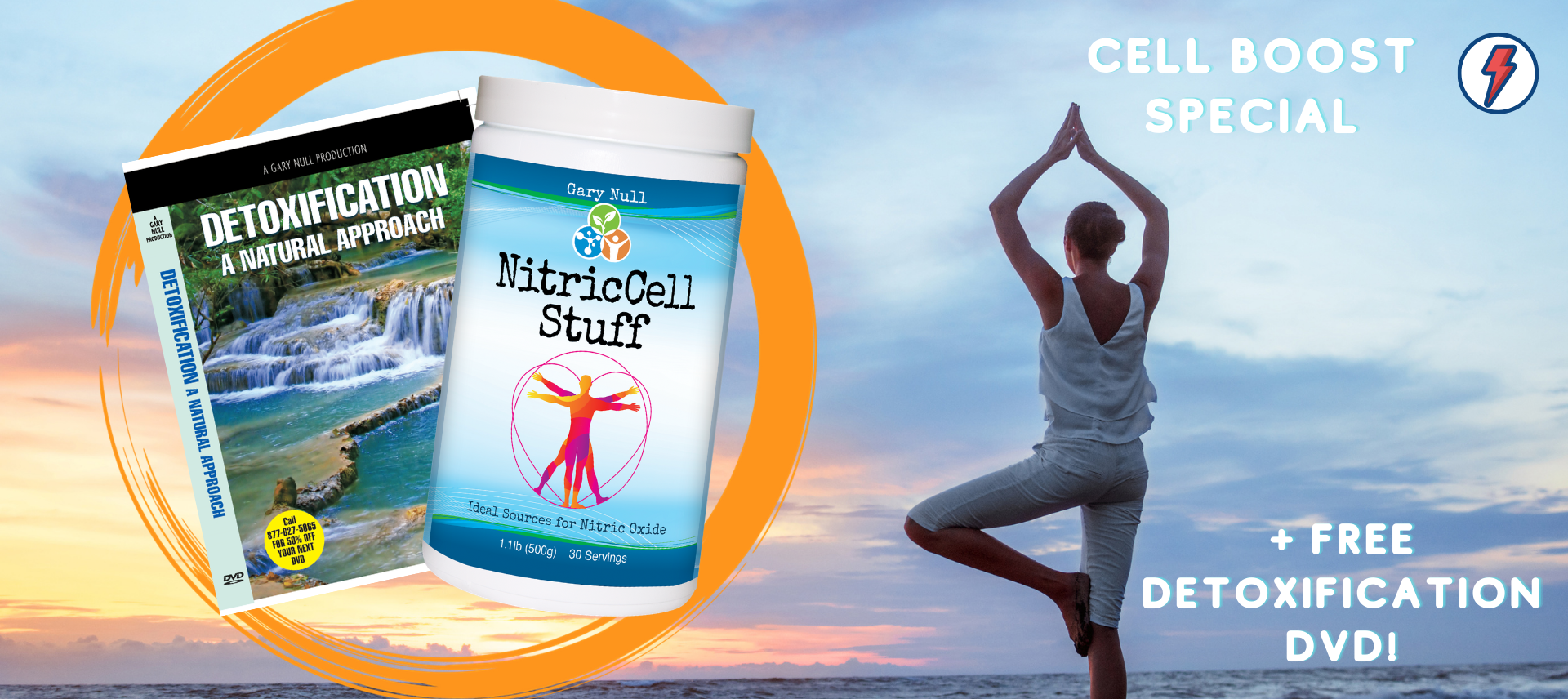 Cell Boost Special: NitricCell Stuff 500 grams with FREE Detox DVD