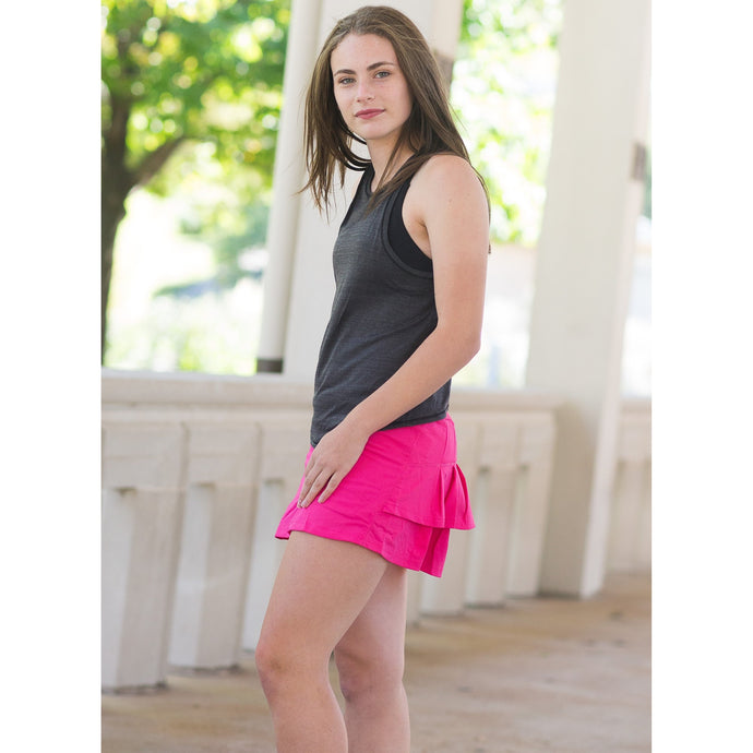 Young Adult Monarch Skirt - Bright Pink