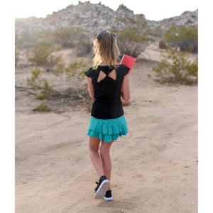 Girls Butterfly Tank - Black