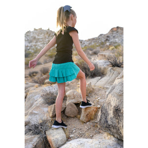 Girls Cocoon Skirt - Seamist