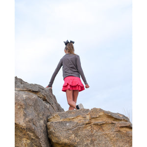 Girls Cocoon Skirt - Bright Pink