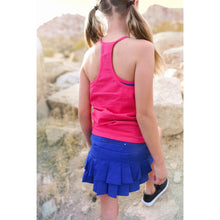 Girls Double Layer Tank - Bright Pink