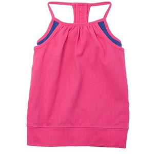 Young Adult Double Layer Tank - Bright Pink
