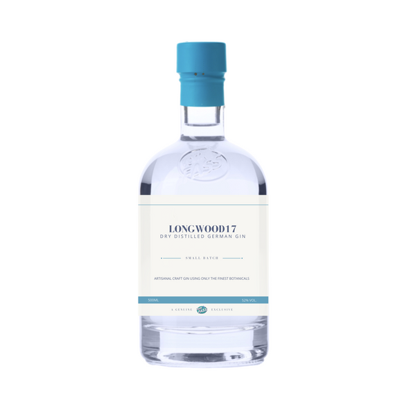 """Longwood 17 Gin"", Small Batch Dry Distilled Gin, Germany"