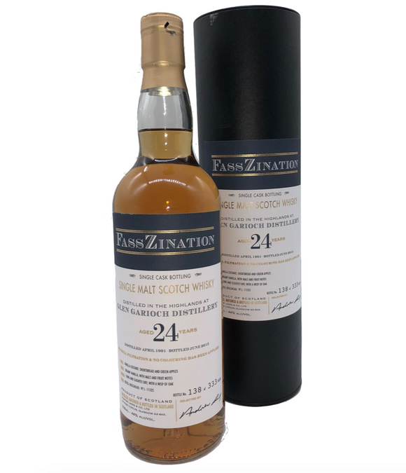Glen Garioch Distillery, Highland Single Malt Scotch Whisky, Single Cask, Aged 24 Years