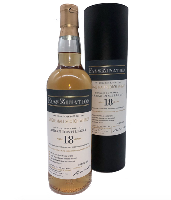 Arran Distillery, Isle of Arran Single Malt Scotch Whisky, Single Cask, Aged 18 Years