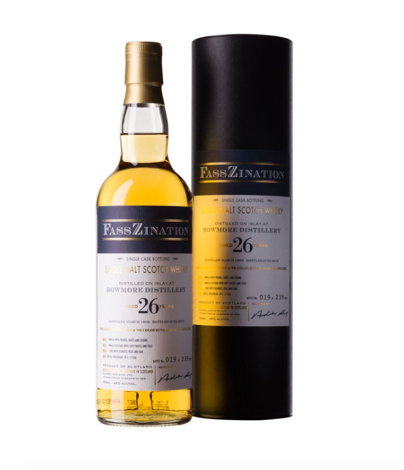 Bowmore Distillery, Islay Single Malt Scotch Whisky, Single Cask, Aged 26 years