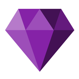 purple diamond graphic