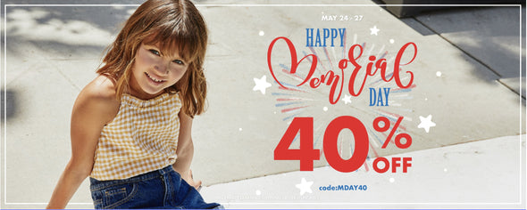 May 24-27 happy memorial day 40% off code MDAY40  sale and clearance items are non-refundable