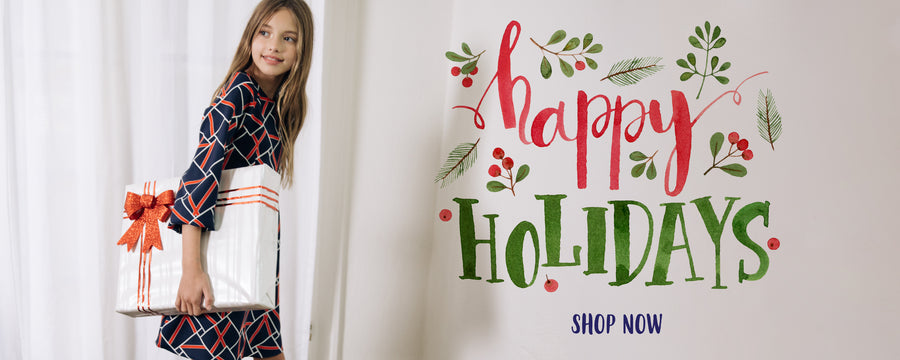 happy holidays shop now