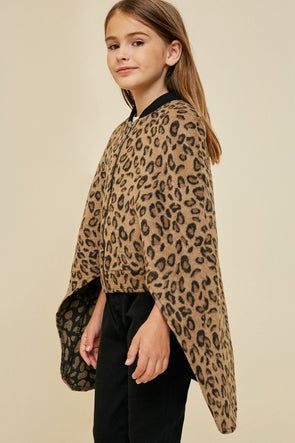 leopard zip up cape jacket Leopard 2