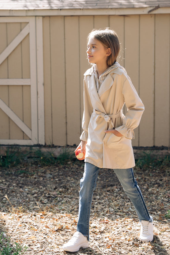 belted suede trench coat  6
