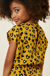 Mustard Leopard Pocket Romper Back