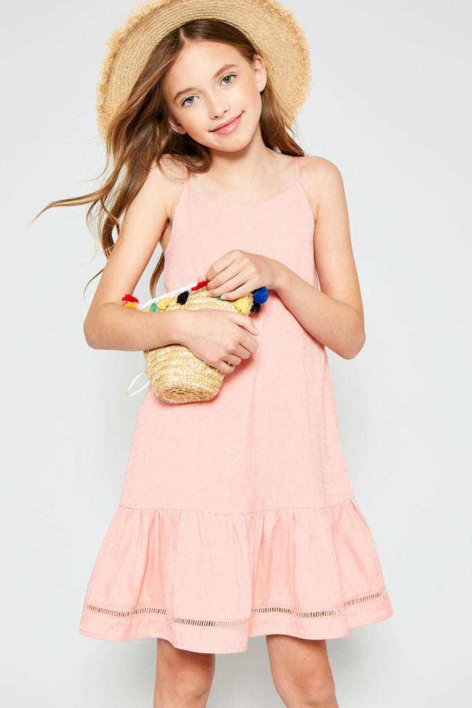Sleeveless Ruffle Hem Tank Dress