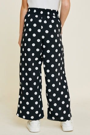 cropped polka dot palazzo pants Black 1