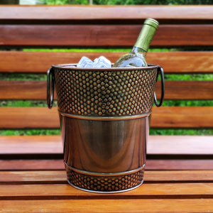 BREKX Berkshire Hammered Wine Bucket in Antique Copper