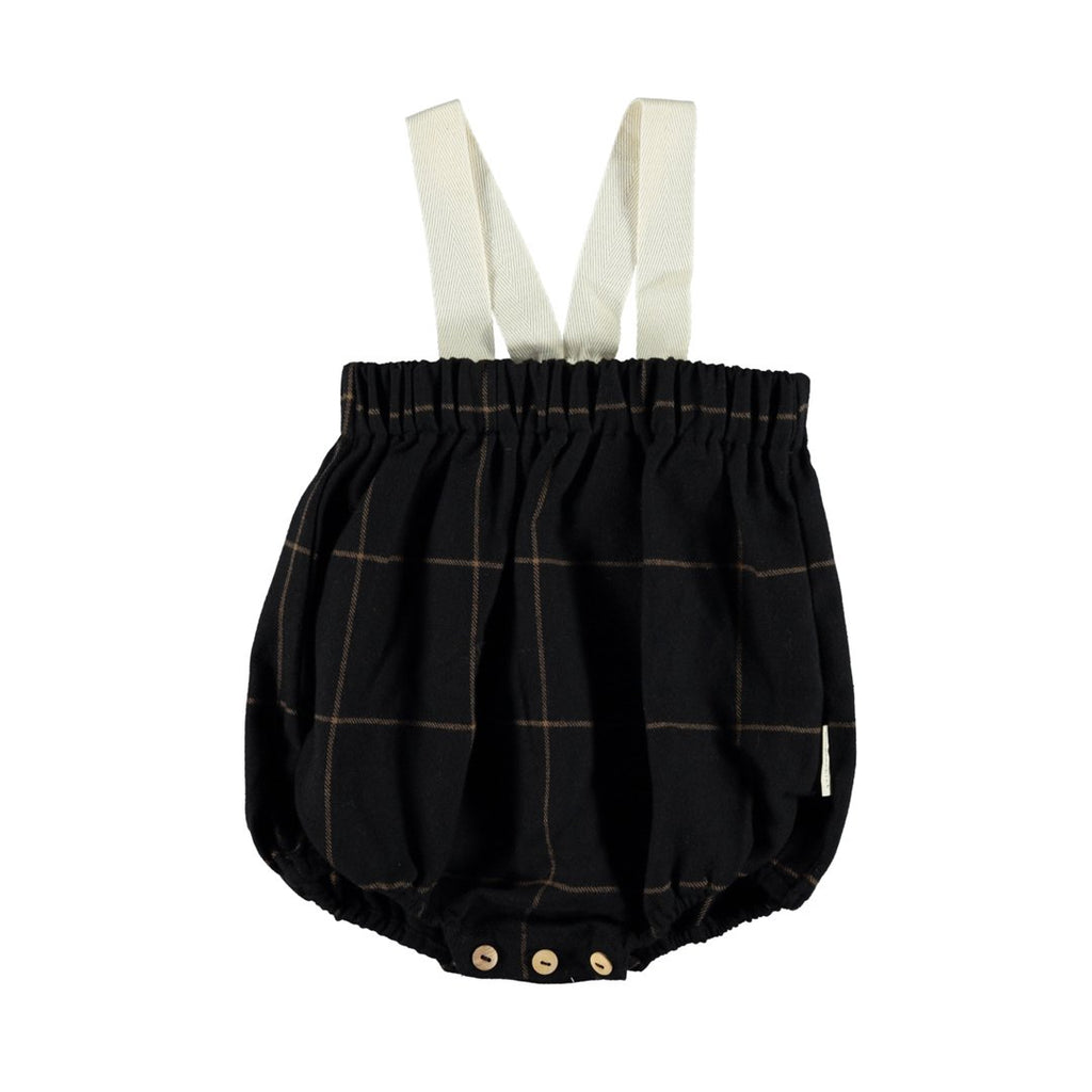 Baby Romper Black Plaid And Flannel