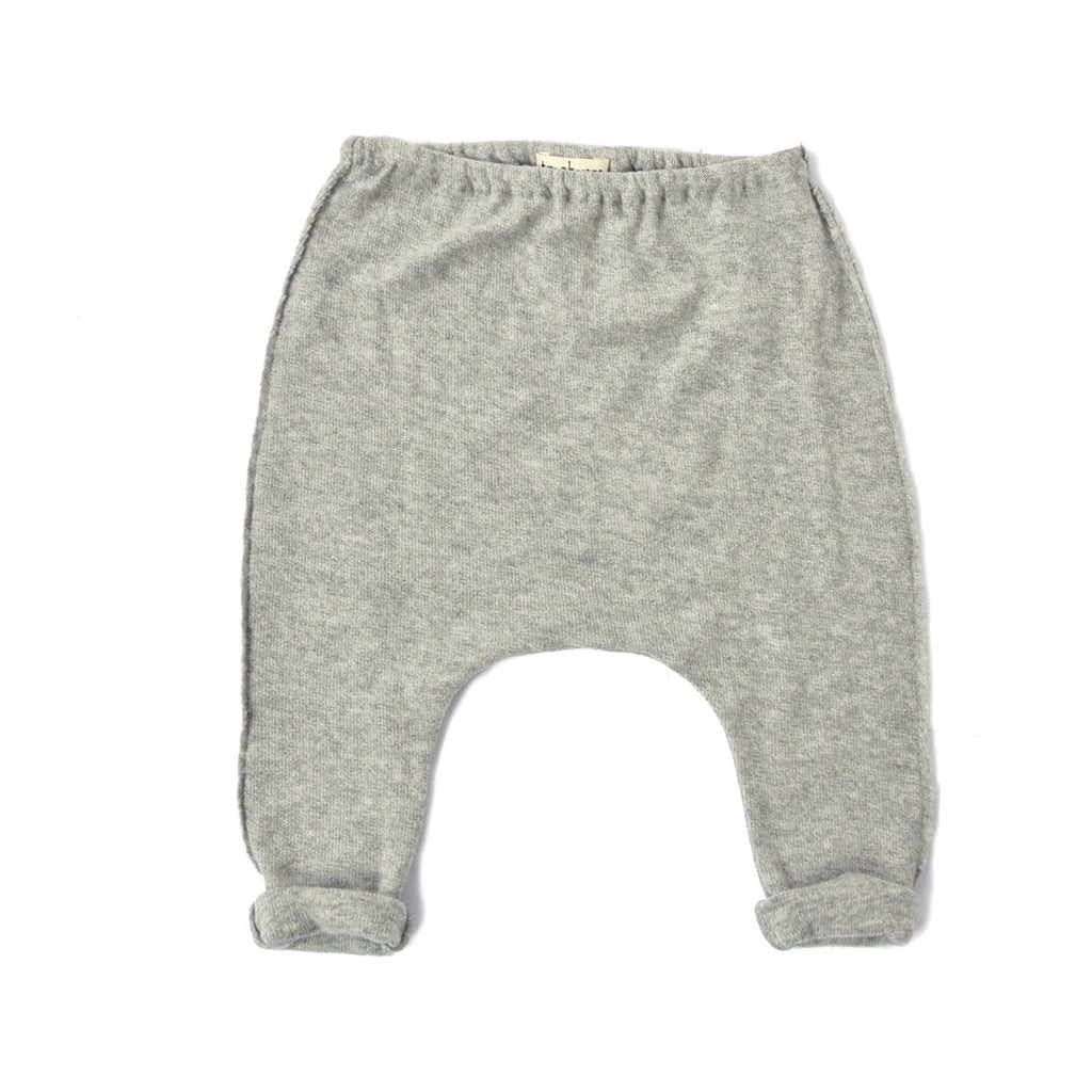 Super soft unisex baby leggings in light gray with wool by Treehouse