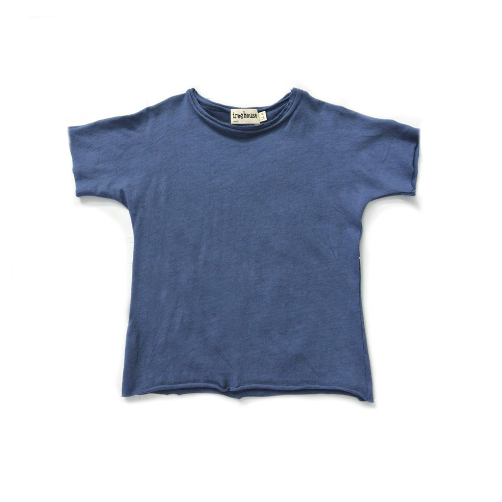 Unisex tshirt in organic super pima cotton in a ocean blue color by Treehouse