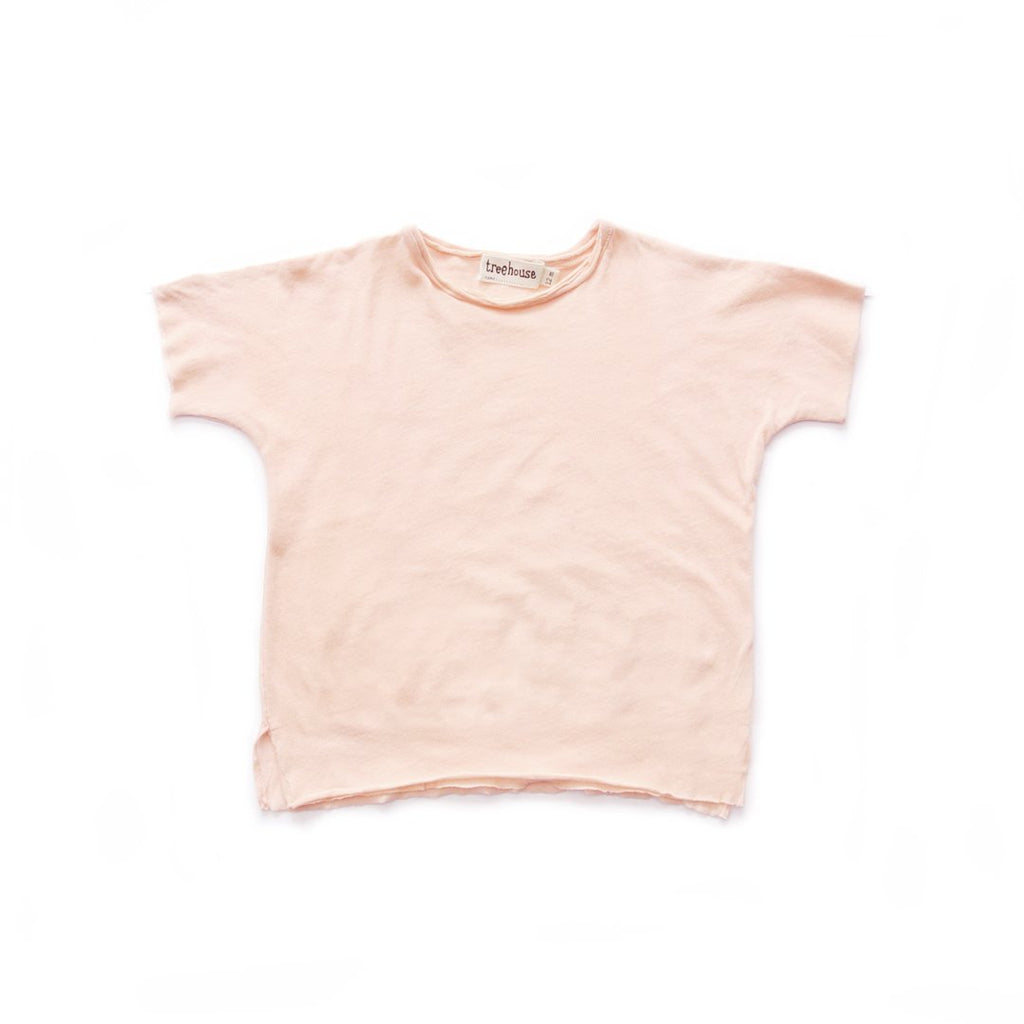 Unisex tshirt in organic super pima cotton in a cherry pink color by Treehouse