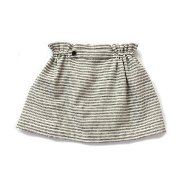 Striped summer skirt for girls with elasticated waist and a side button by Treehouse