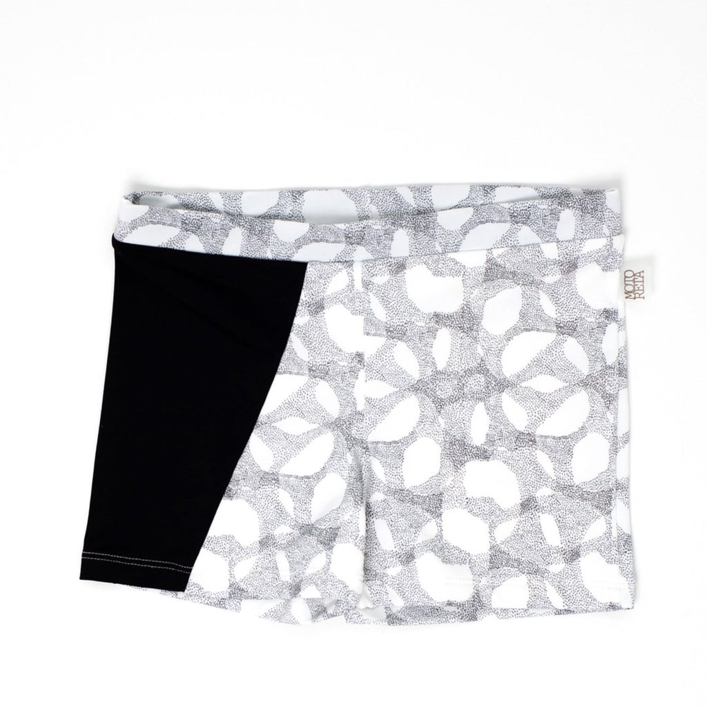 Boys swim shorts in halftone and black details by Motoreta