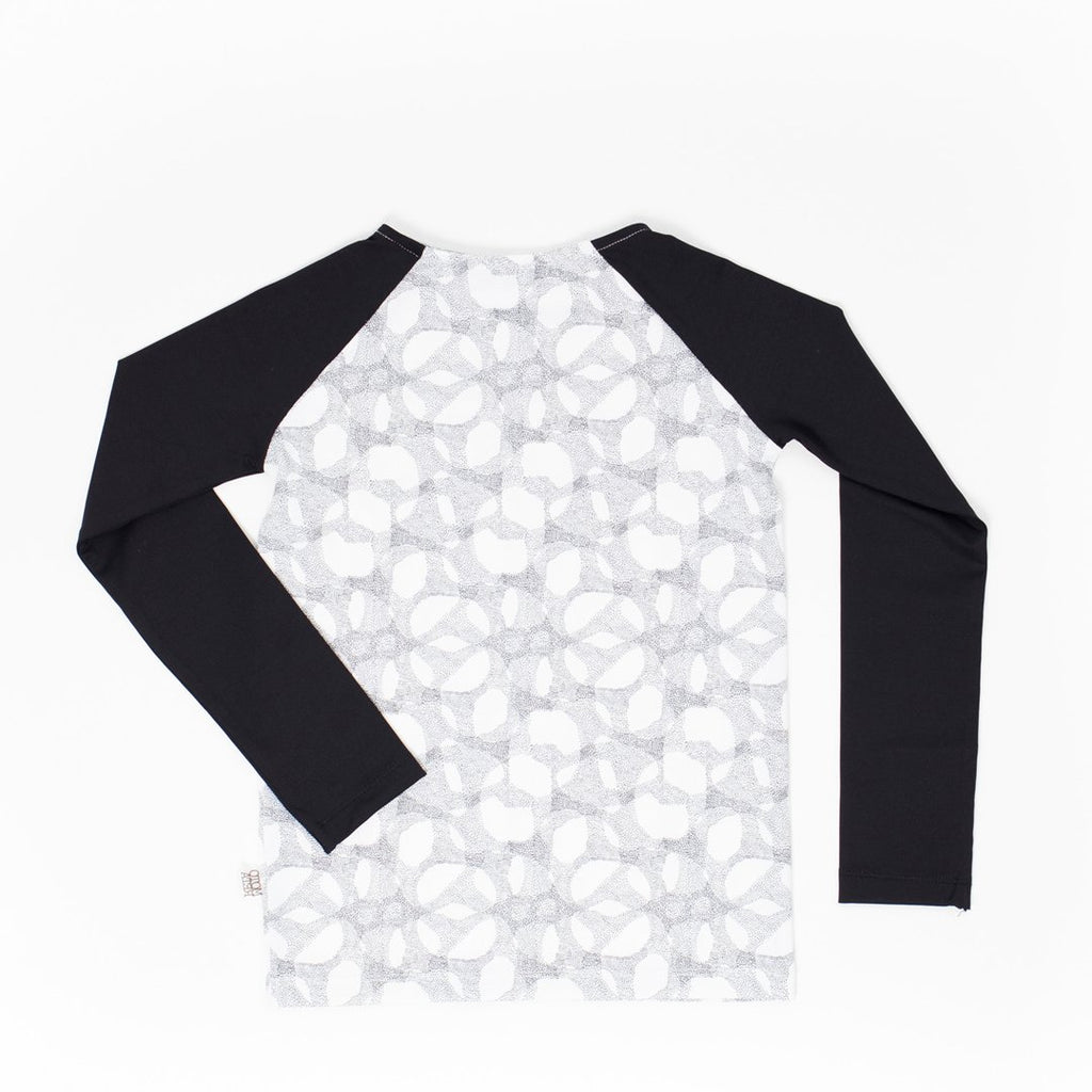 Boys swim shirt with long-sleeve in halftone and black arms by Motoreta