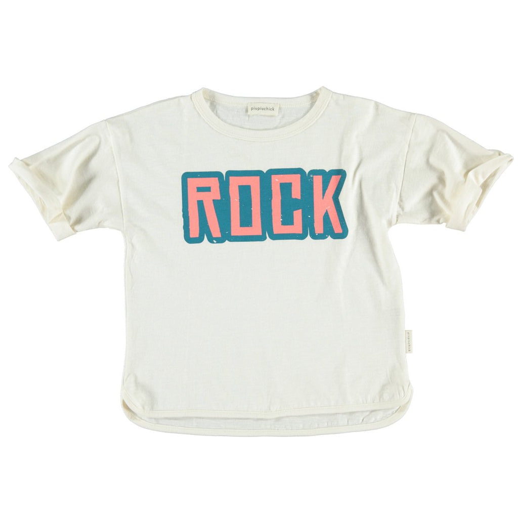 "T-shirt with the ""ROCK"" lettering by Piupiuchick"