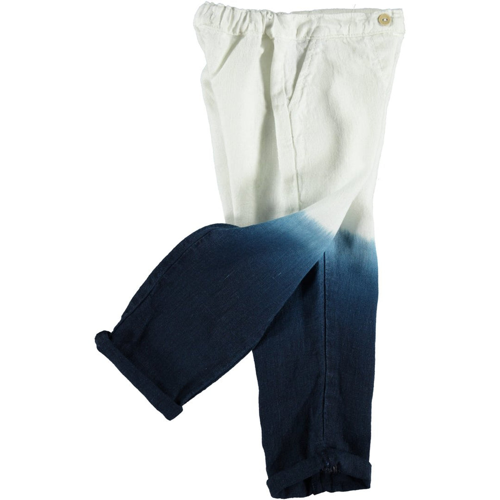 Side of bleached trousers for kids with a relaxed fit by Piupiuchick