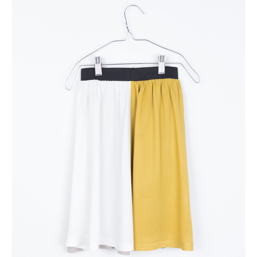 Midi-length skirt for girls, in four colors: black, green, white and taup_ by Motoreta