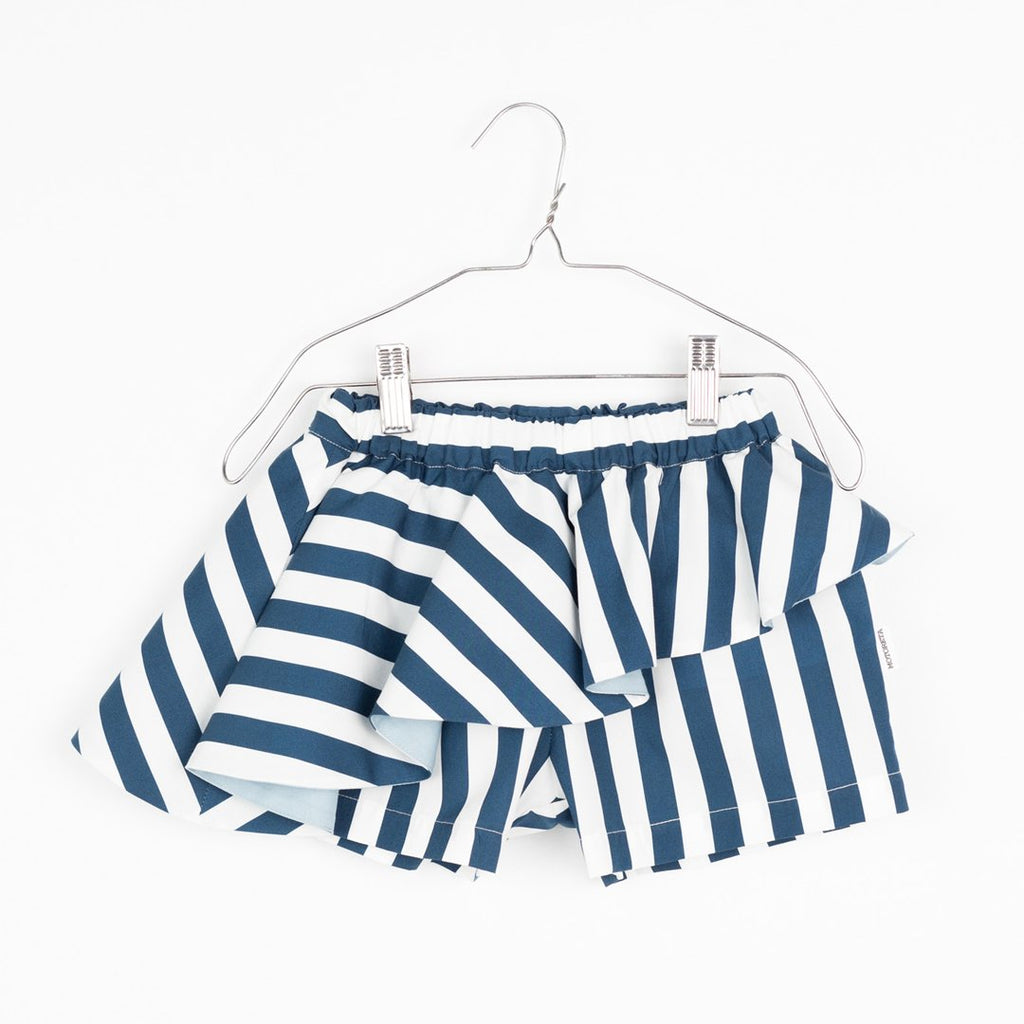Blue and white baby girl skort by Motoreta