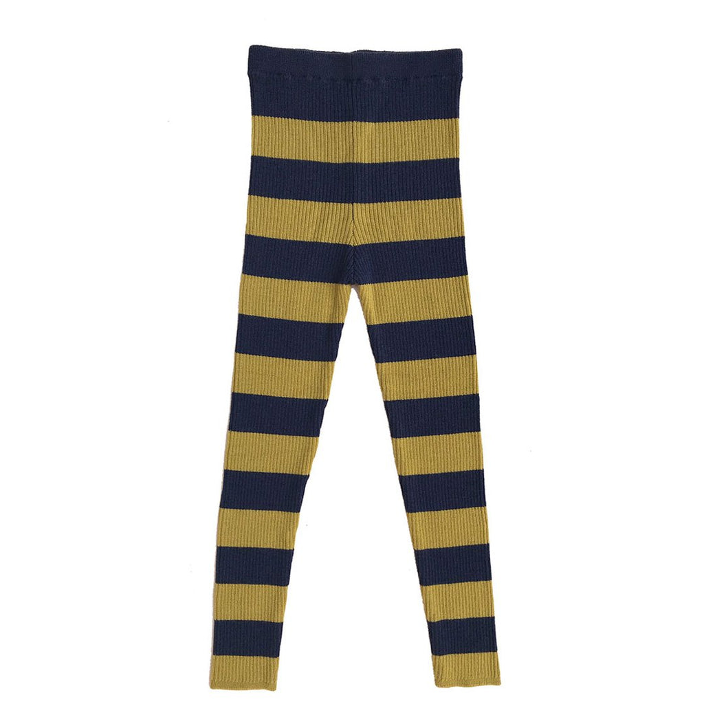 Soft and stretchy skinny legs by Mabli in navy blue and and soft ochre are a perfect choice for both boys and girls.