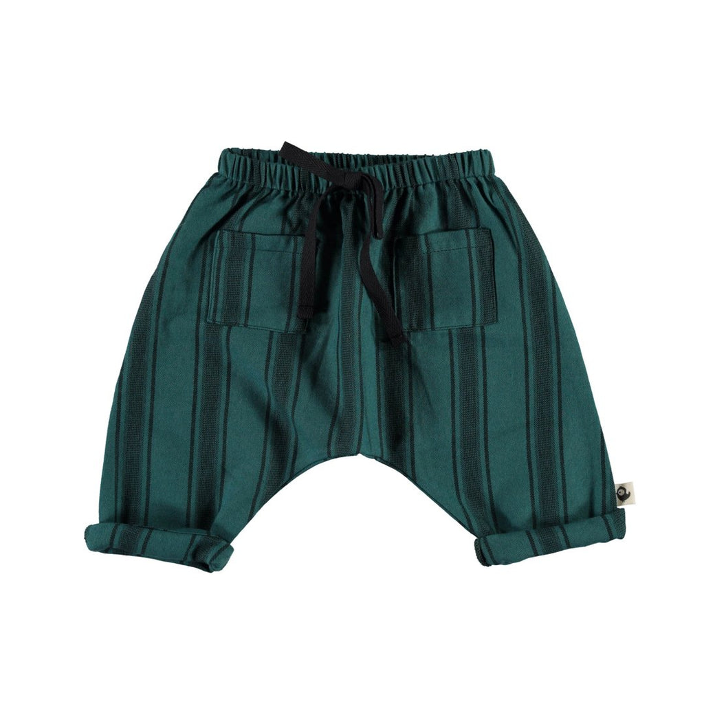 Sarouel pantsÌ_from newborn to kids, with two  front pockets and emerald color by Piupiuchick