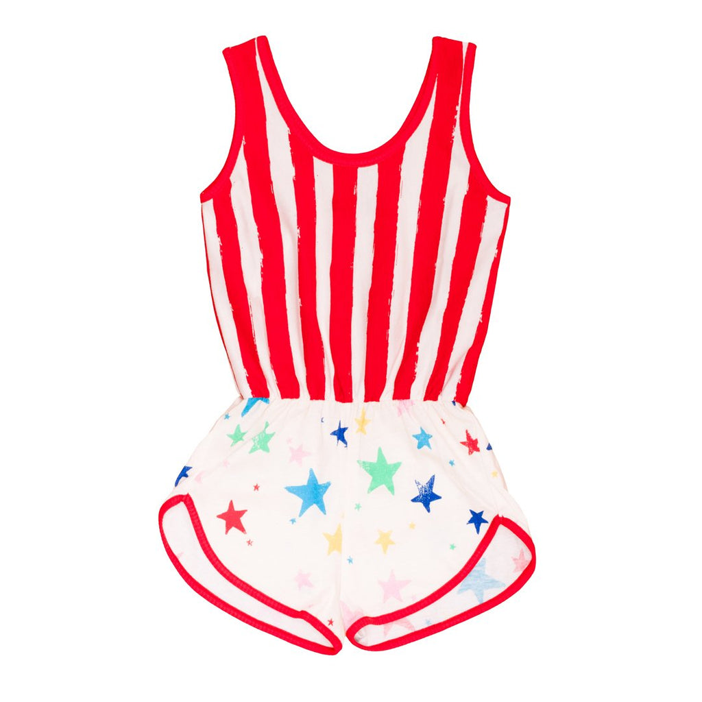 Wonder Woman inpired romper for girls