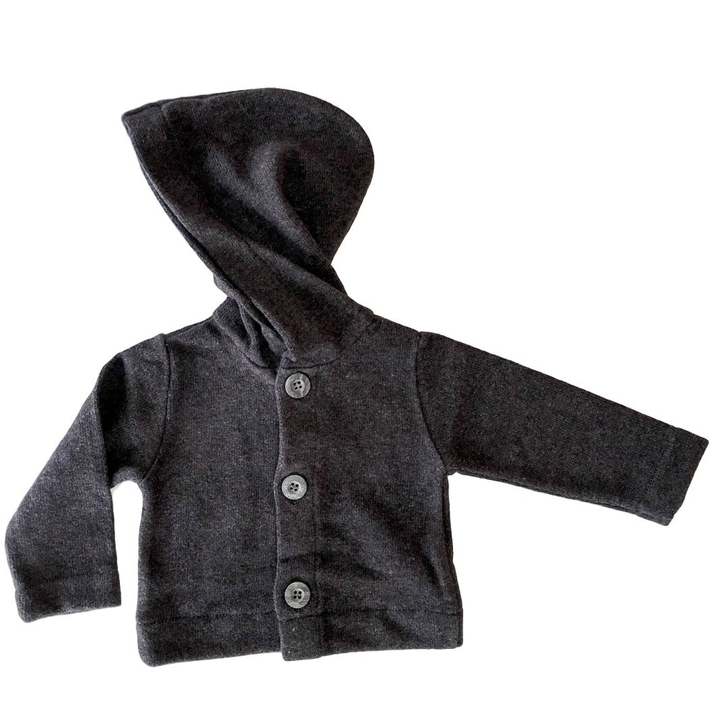 Soft, long-lasting hooded cardigan for babies by Il Guardarobino