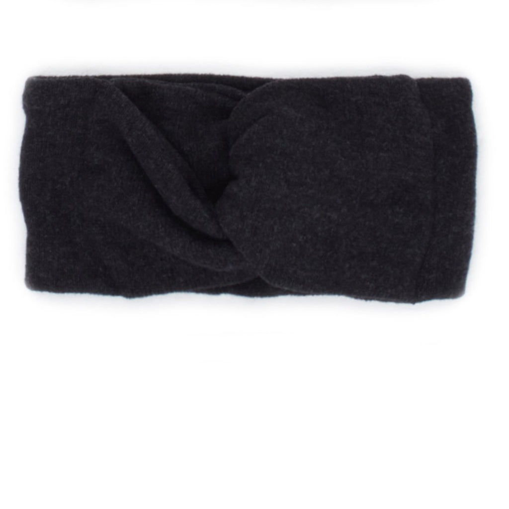Warm cotton turban in anthracite by I Leoncini