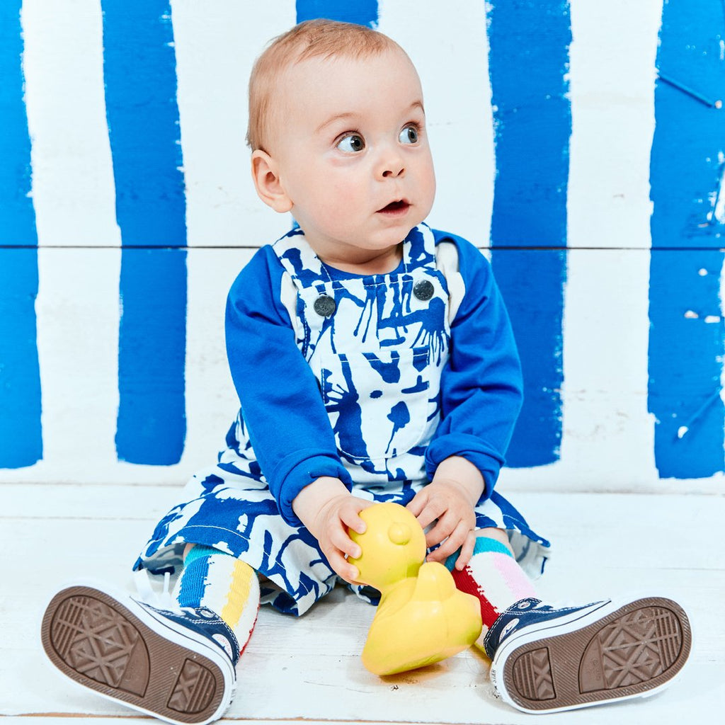 Baby Dungarees Blue Ink