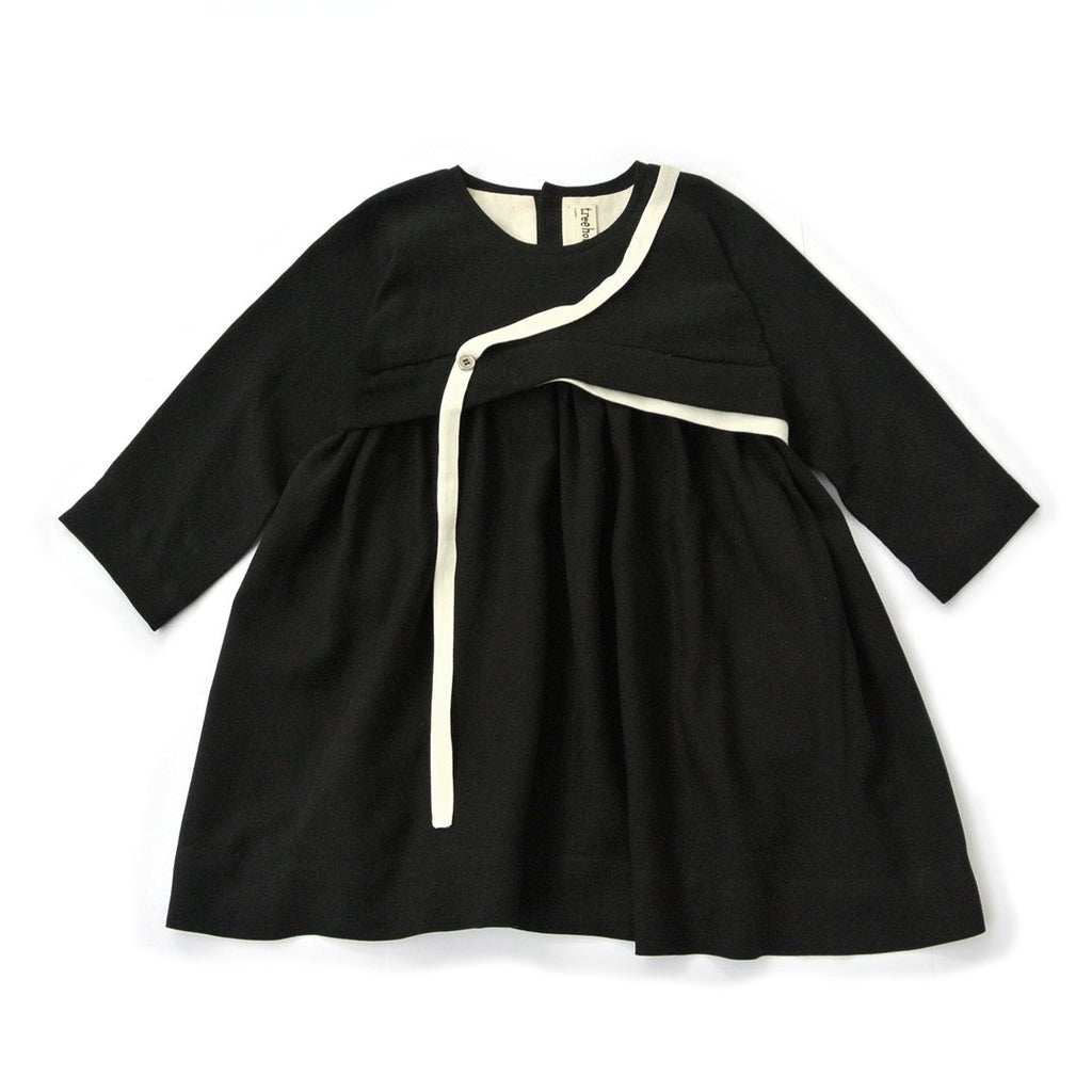 Baby girl black dress with contrast details by Treehouse