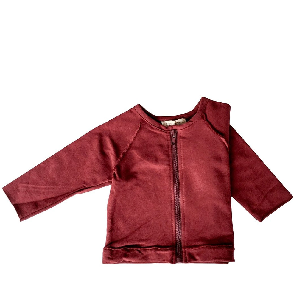 Boys Bordeaux Cardigan with zipper by Il Guardarobino