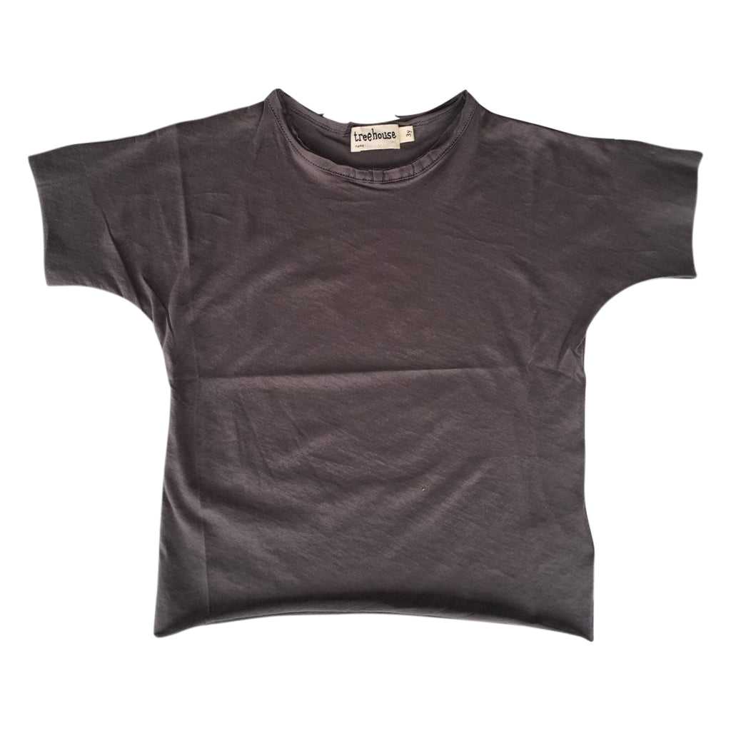 Unisex tshirt in organic super pima cotton in a charcoal gray color by Treehouse