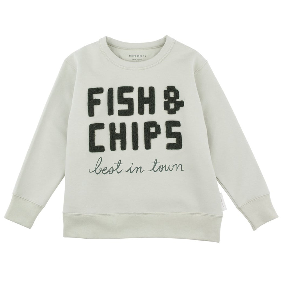 Fish&Chips Graphic Sweatshirt Green